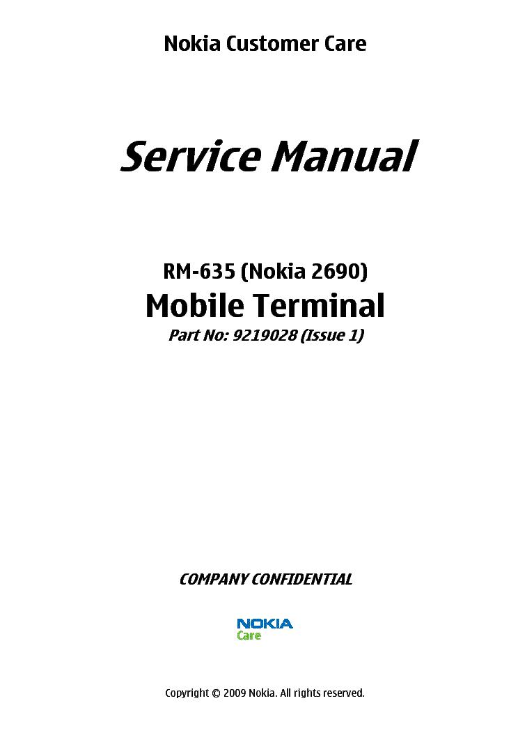 NOKIA 2690 [RM-635] L34 Service Manual download